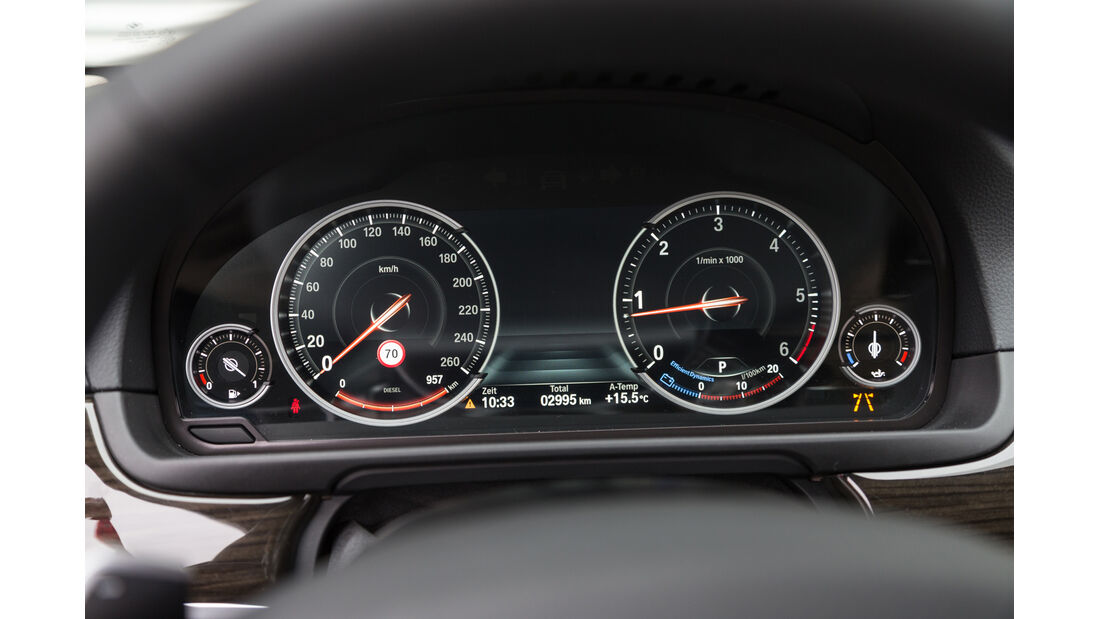 BMW 520d, Rundinstrumente