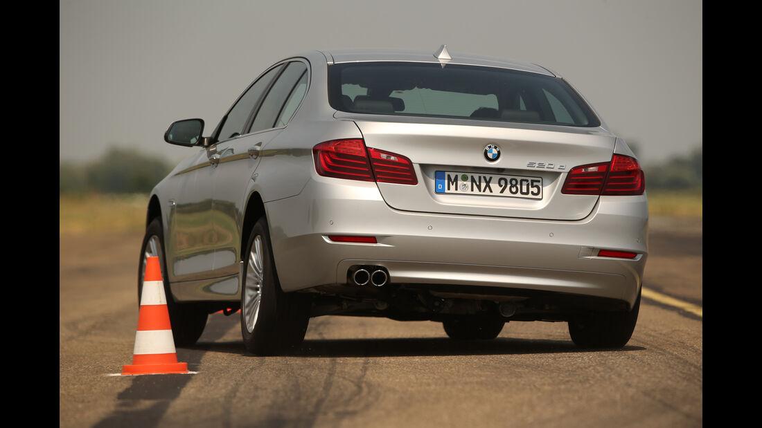 BMW 520d, Slalom, Frontansicht