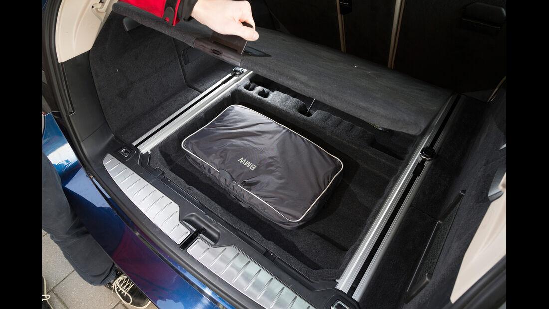 BMW 520d Touring, Ablagefach, Kofferraum