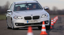 BMW 520d Touring, Frontansicht, Slalom