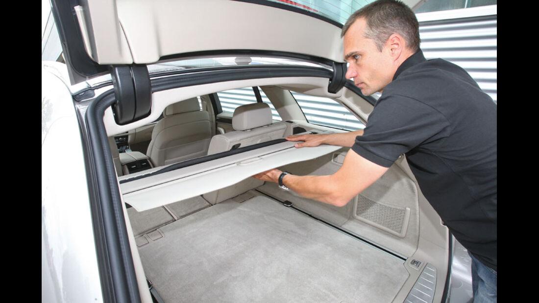BMW 520d Touring, Gepäckraumabdeckung, Rollo