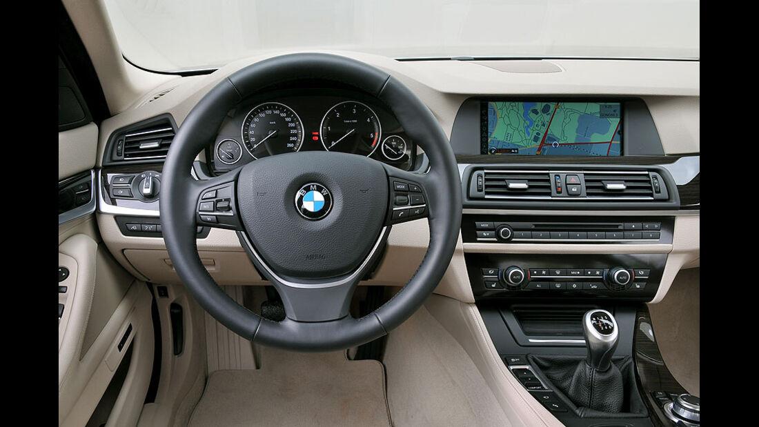 BMW 520d Touring, Lenkrad