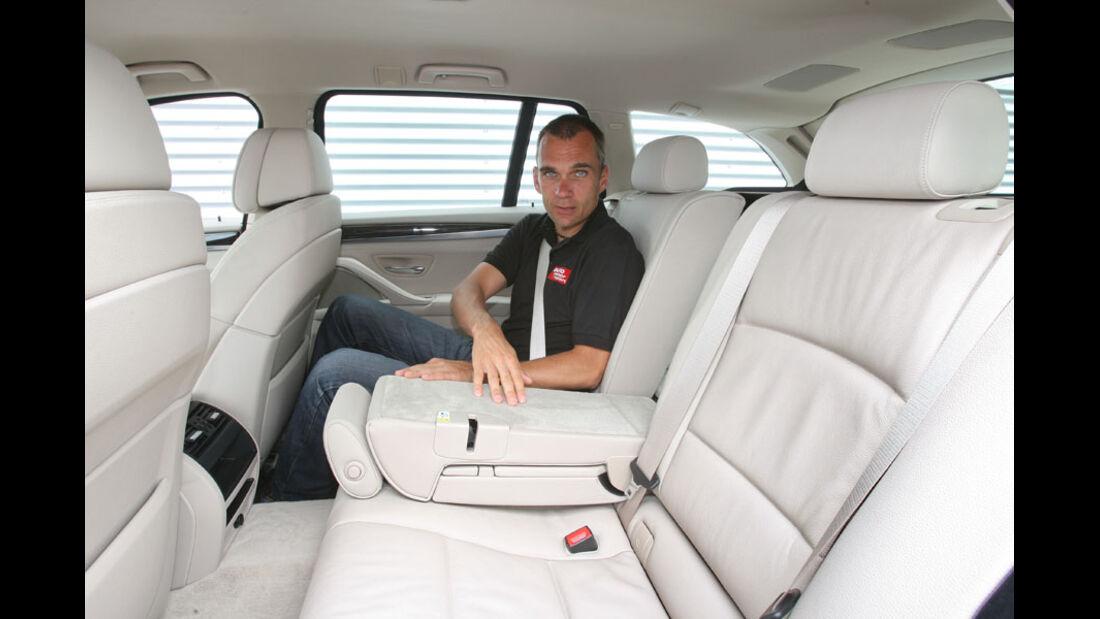 BMW 520d Touring, Rückbank, Fond