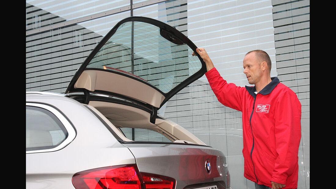 BMW 520d Touring, Rückfenster