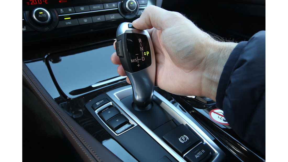 BMW 520d Touring, Schalthebel