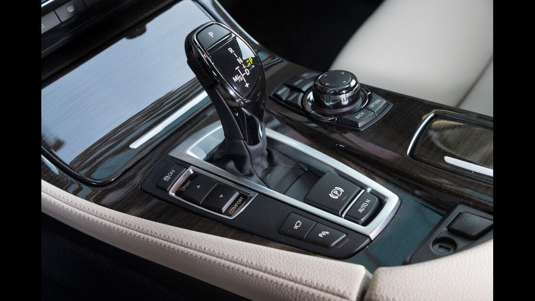 BMW 520d Touring, Schalthebel, Schaltknauf
