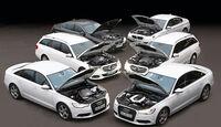 BMW 520i, Mercedes E 200, Audi A6 3.0 TDI Quattro, BMW 528i, Mercedes E 250, Audi A6 3.0 TDI Quattro