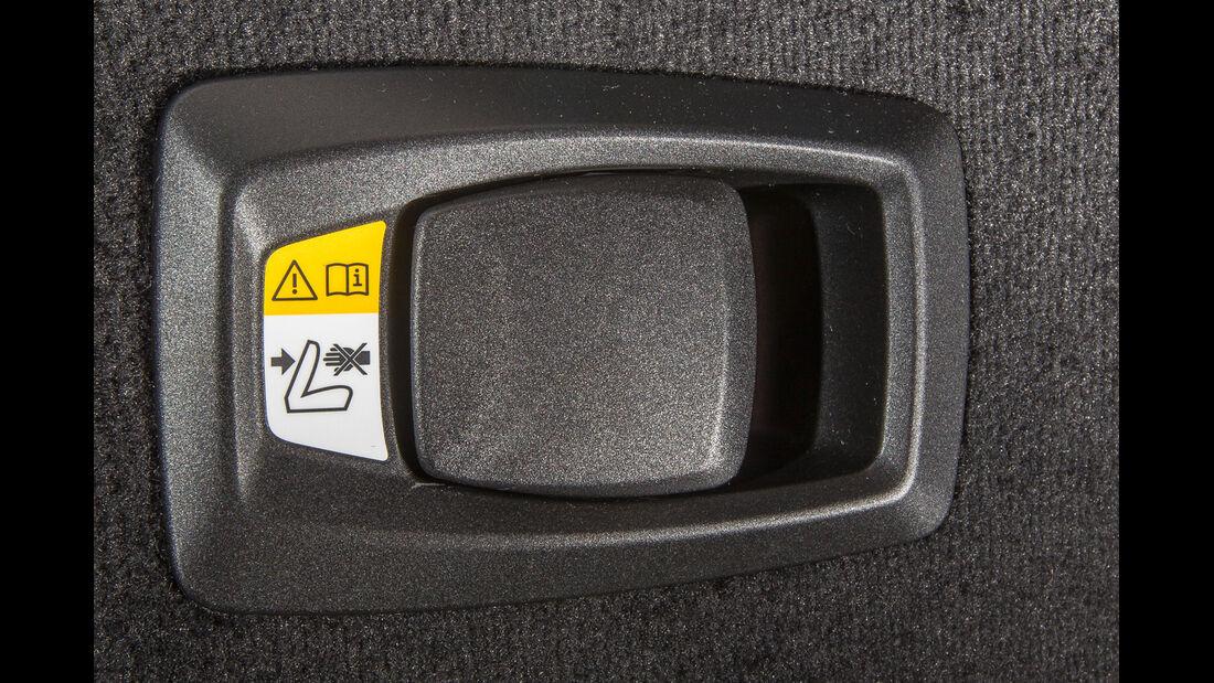 BMW 520i Touring, Sitze, Umklappen