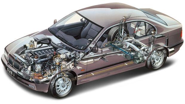 BMW 523i E39, Durchsicht