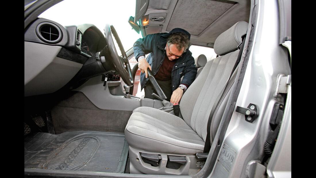 BMW 524 TD, Fahrersitz