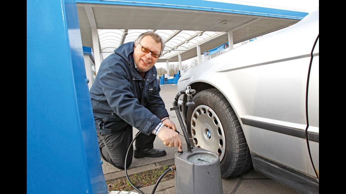 BMW 524 TD, Luftdruck, Alf Cremers