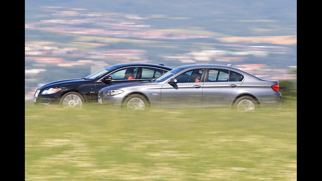 BMW 525d, Jaguar XF 3.0 Diesel
