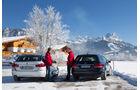 BMW 525d Touring xDrive, Mercedes E 250 CDI T 4matic, Heckansicht