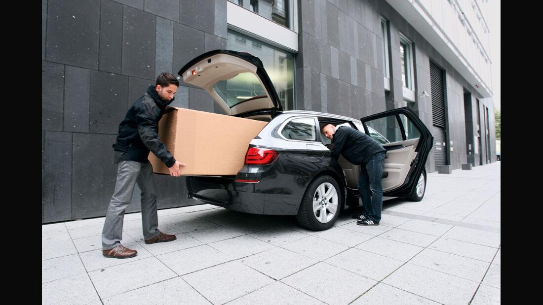 BMW 528i Touring, Kofferraum, Schrank