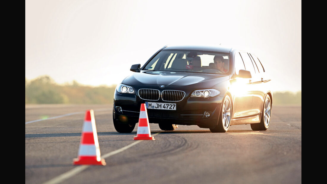 BMW 528i Touring, Slalom