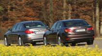 BMW 530, Lexus GS 450h, Heckansicht