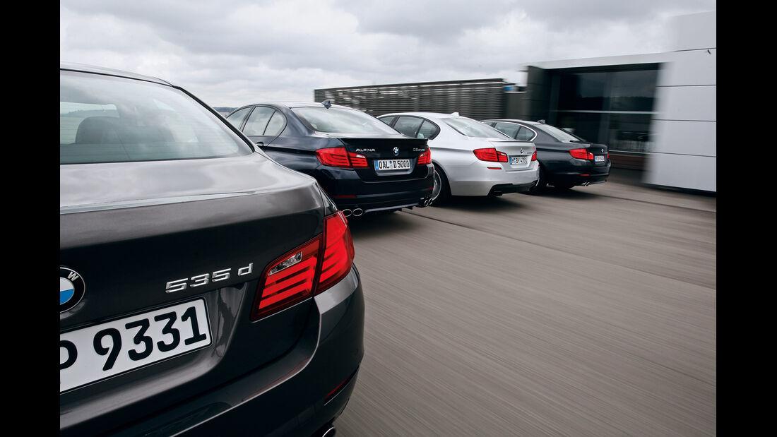 BMW 530d, 535d, M550d, Alpina D5, Heck