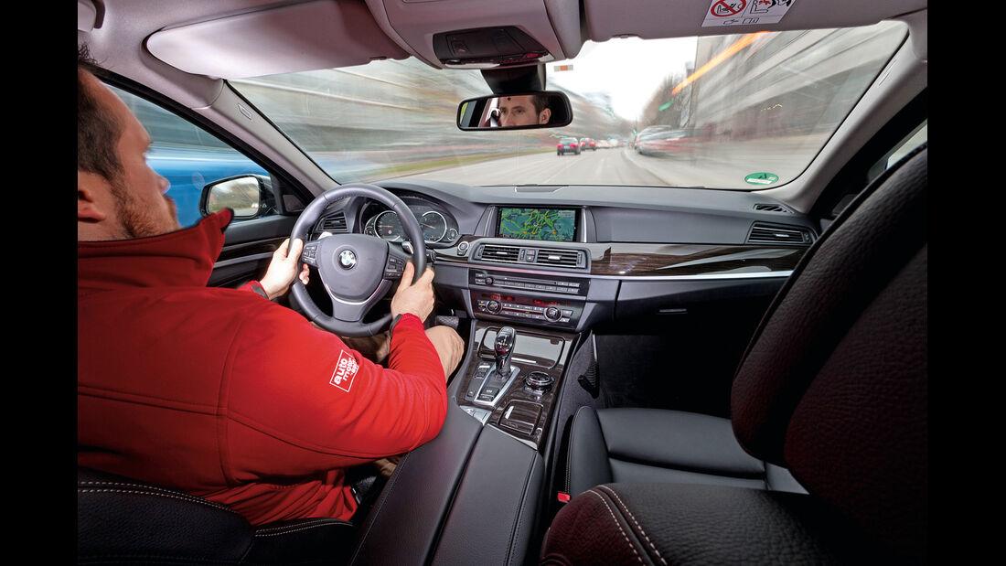 BMW 530d, Cockpit, Fahrersicht