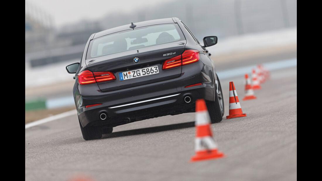 BMW 530d, Heckansicht