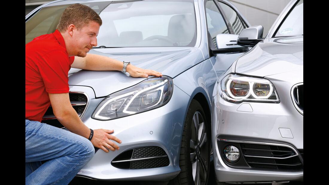 BMW 530d, Mercedes E 350 Bluetec, Jens Dralle