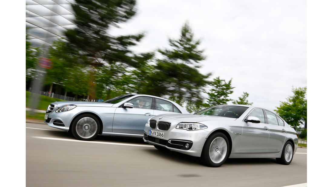 BMW 530d, Mercedes E 350 Bluetec, Seitenansicht