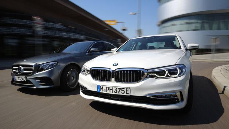Bmw 530e Iperformance Und Mercedes E 350 E Im Test Auto Motor Und Sport