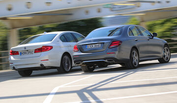 BMW 530e iPerformance Luxury Line, Mercedes E 350 e Avantgarde, Exterieur