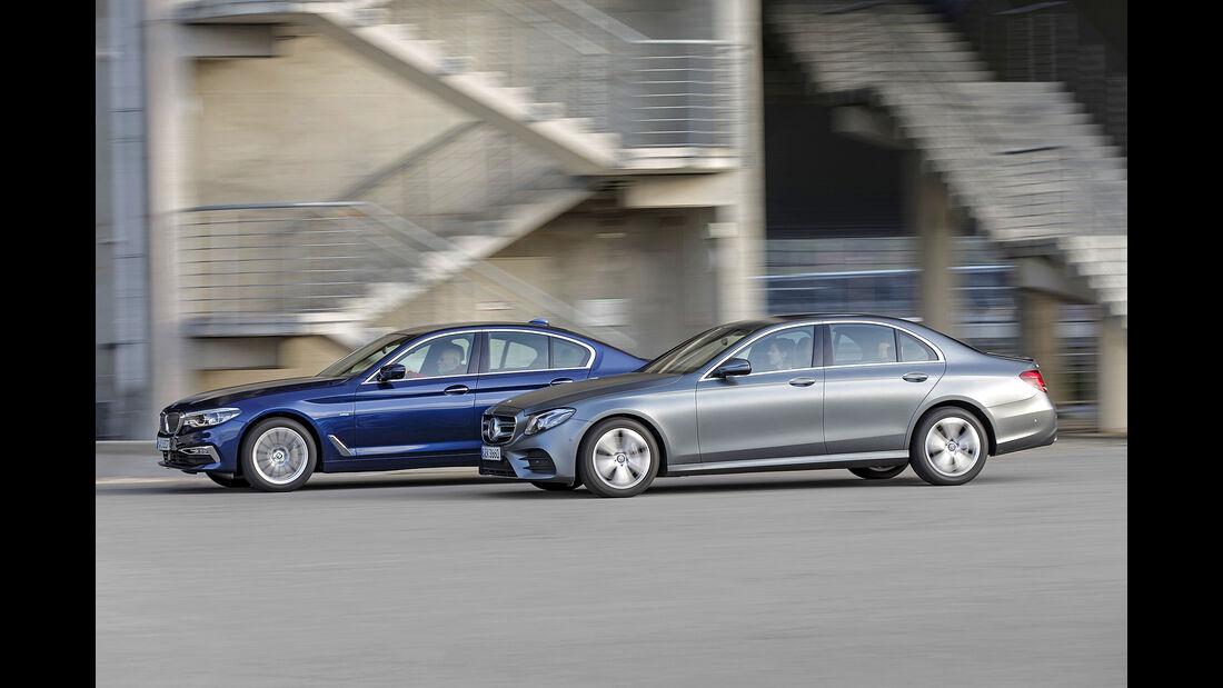 BMW 530i Luxury Line, Mercedes E 300 AMG Line, Exterieur