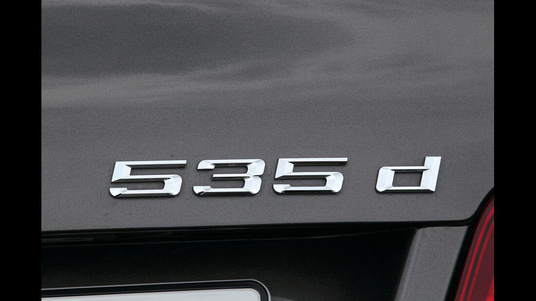 BMW 535d, Typenbezeichnung, Schriftzug