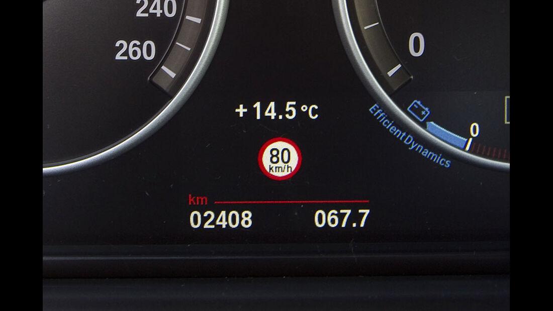 BMW 535i Tempolimiterkennung