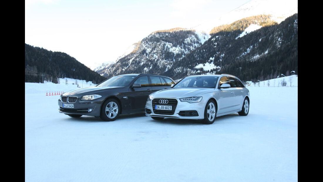 BMW 535i Touring, Audi A6