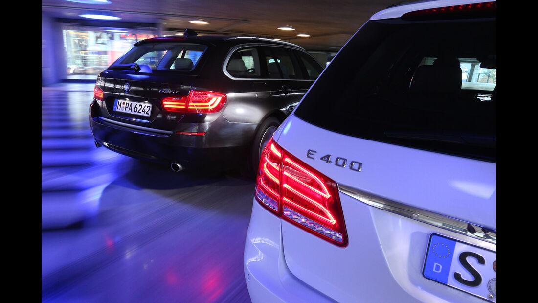 BMW 535i Touring xDrive, Mercedes E 400 T 4Matic,
