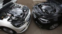 BMW 535i Touring xDrive, Mercedes E 400 T 4Matic, Motoren