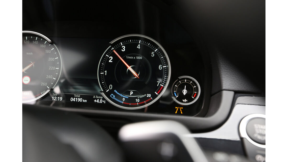 BMW 535i Touring xDrive, Rundinstrumente