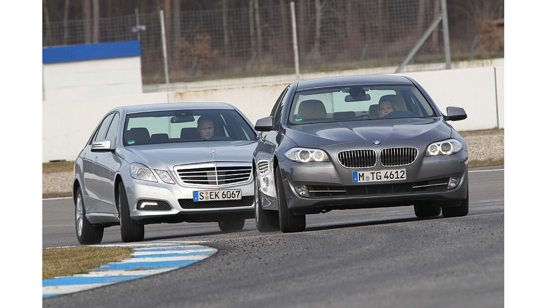 BMW 535i und Mercedes E 350 CGI Frontansicht