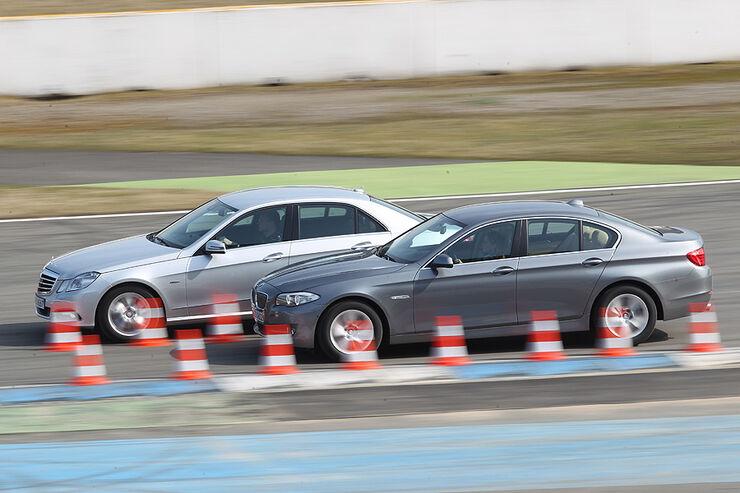 BMW 535i und Mercedes E 350 CGI im Sprint