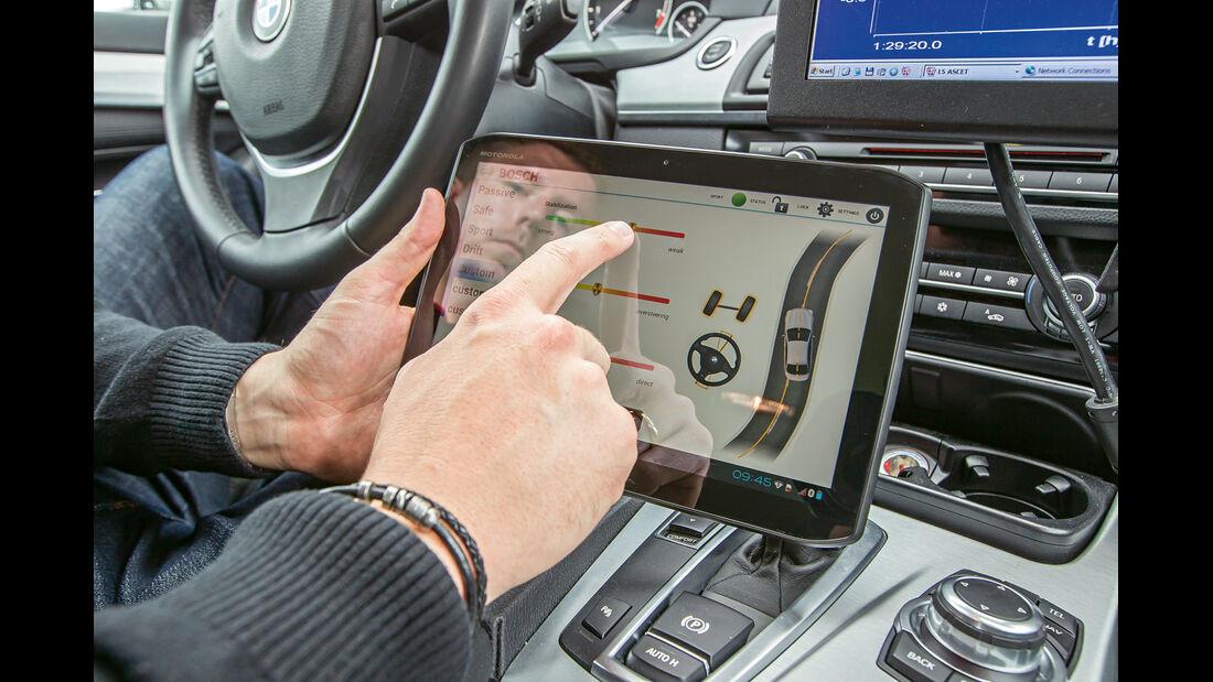 BMW 550i, ESP, Tablet