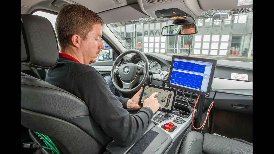 BMW 550i, ESP, Testaufbau