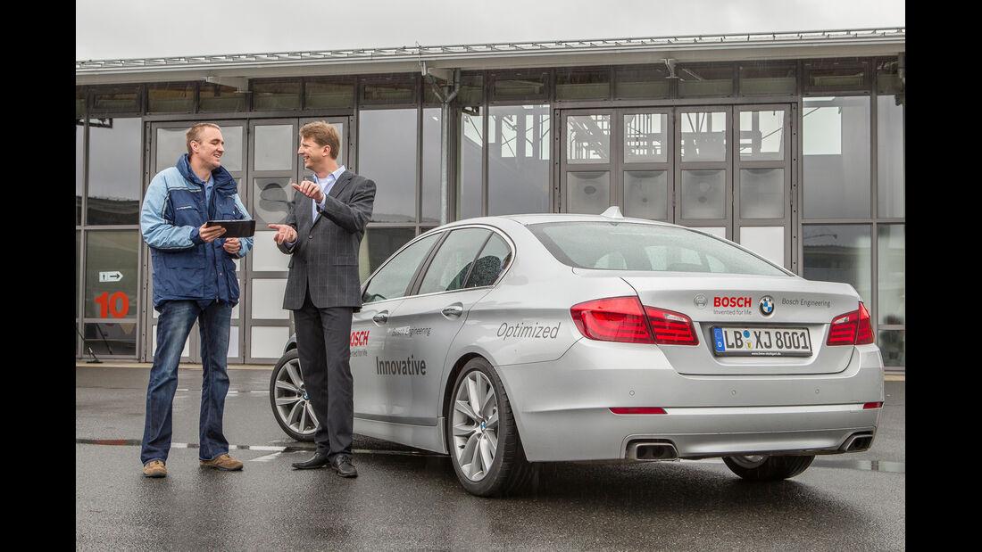 BMW 550i, Heckansicht
