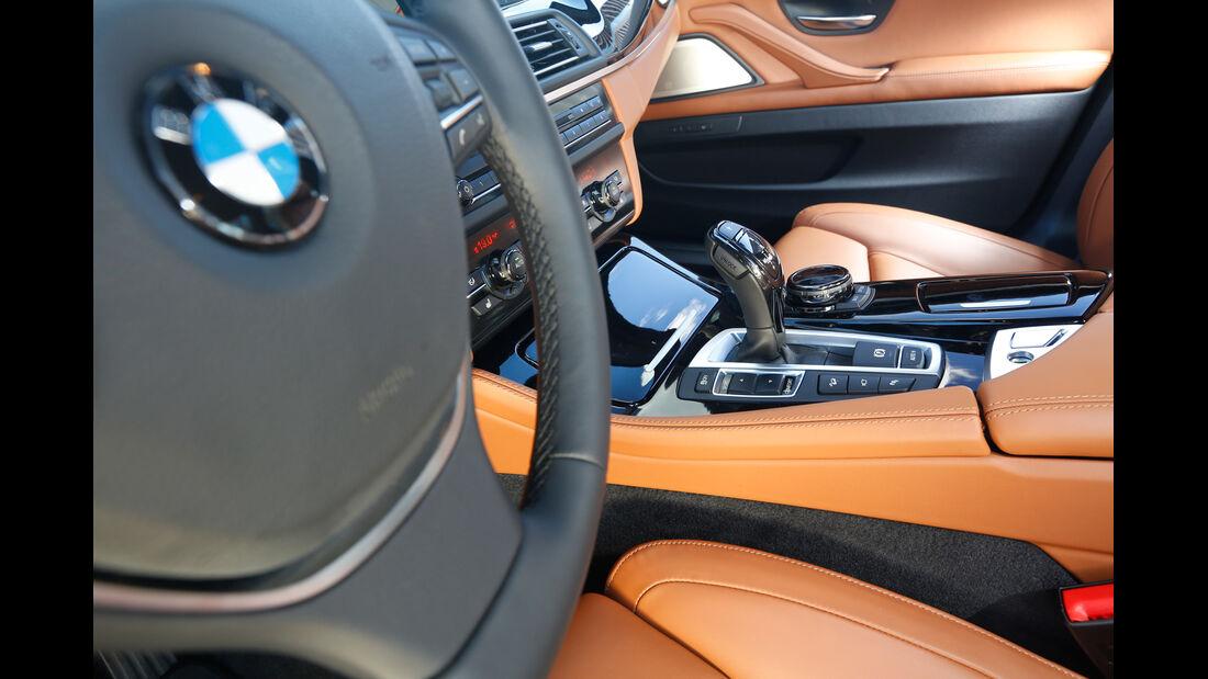 BMW 550i xDrive, Schalthebel, Mittelkonsole