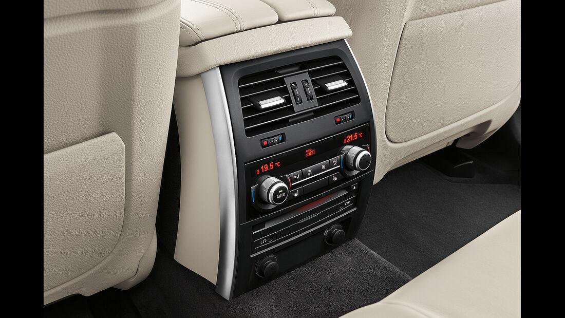 BMW 5er Gran Tourismo, Facelift 2013, Klimaanlage hinten