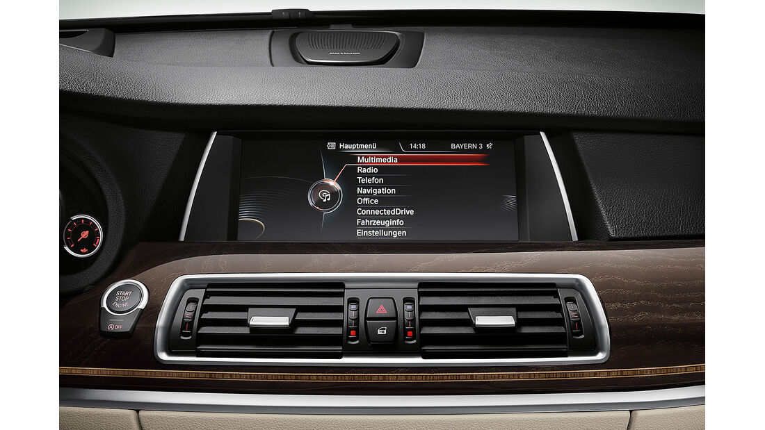BMW 5er Gran Tourismo, Facelift 2013, TFT-Display