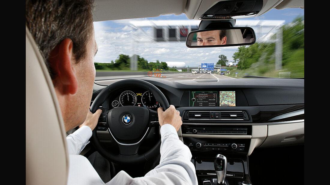 BMW 5er, Head-up Display