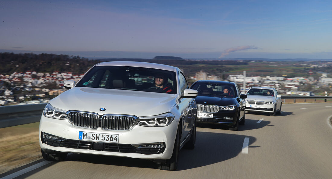 BMW 5er Touring, BMW 6er GT, BMW 7er L, Exterieur