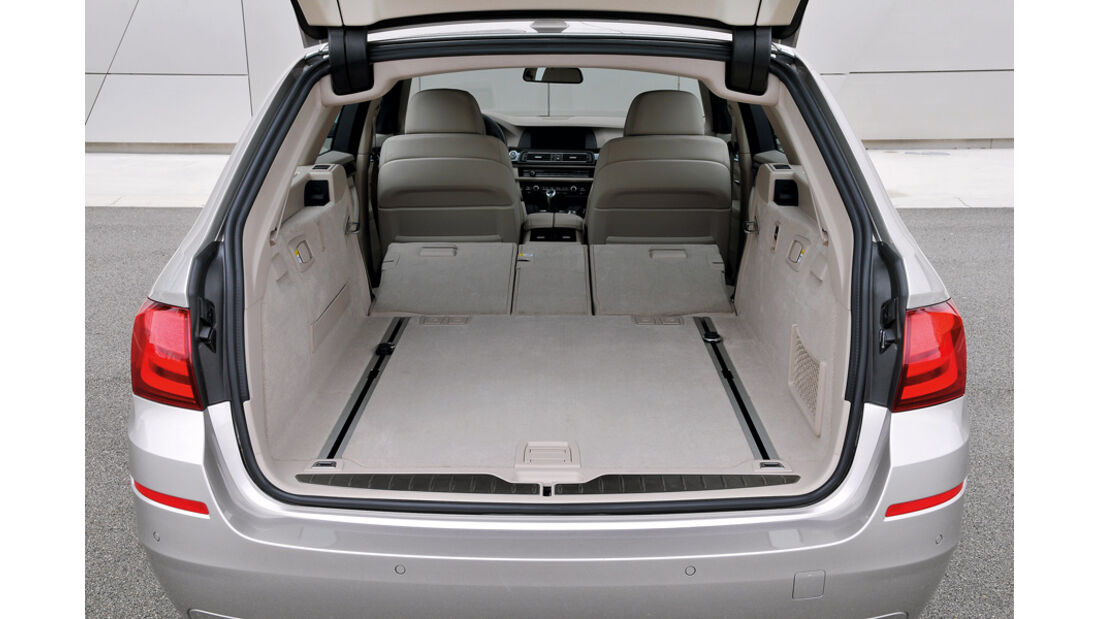 BMW 5er Touring, Kofferraum, Rückbank umgeklappt, Ladevolumen