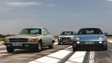 BMW 635 CSI, Mercedes-Benz 450 SLC 5.0, Porsche 928S