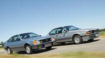 BMW 635 CSi, Opel Monza 3.0 E, Seitenansicht