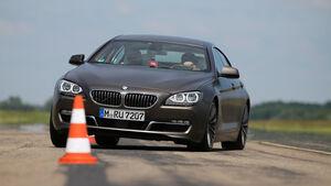 BMW 640d Gran Coupé, Frontansicht, Slalom