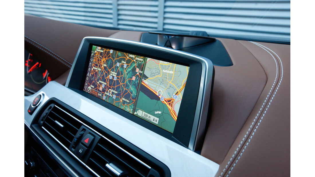 BMW 640d Gran Coupé, Navi, Bildschirm