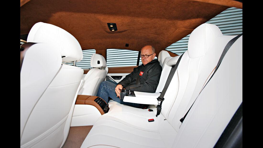 BMW 640d Gran Coupé, Rücksitz, Beinfreiheit